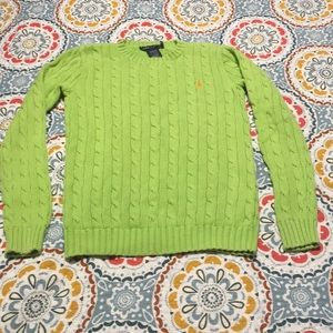 Ralph Lauren sweater extra small lime green